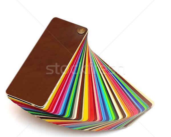 Nyitva minta színek iktatókönyv terv háttér Stock fotó © inxti