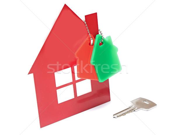 Otthon kulcs ház szimbólum ablak biztonság Stock fotó © inxti