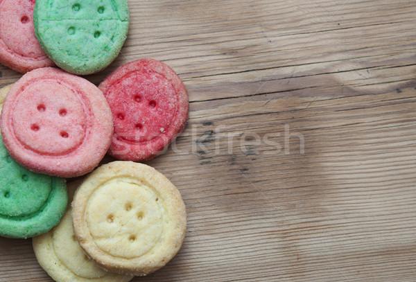 şeker kurabiye ahşap kek zaman Stok fotoğraf © inxti