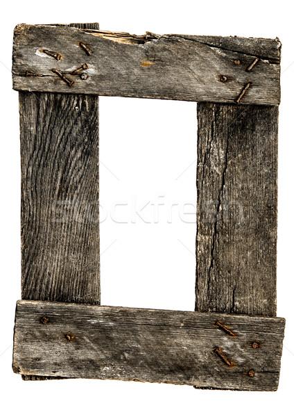 Lege frame rustiek hout achtergrond Stockfoto © inxti