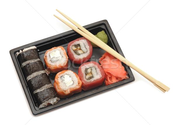 Foto d'archivio: Sushi · tradizionale · cibo · giapponese · alimentare · pesce · ristorante
