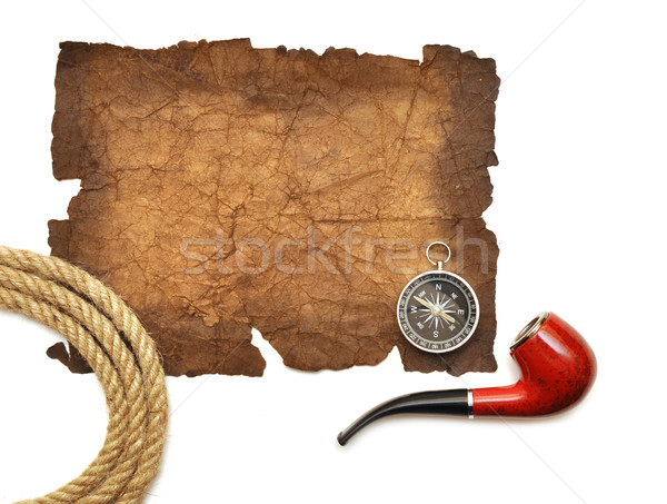 pipe, compass and rope Stock photo © inxti