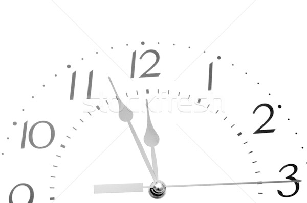 Black and white analogue clock face Stock photo © inxti