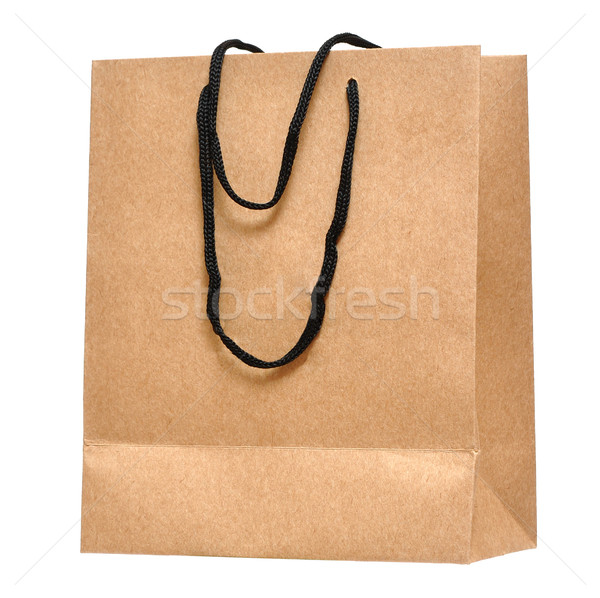 Shopping bag made from brown recycled paper Stock photo © inxti