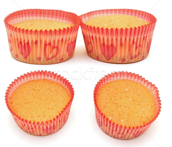 muffin cakes collage isolated on white background  Stock photo © inxti