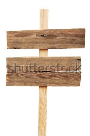 öreg viharvert fa felirat izolált fehér Stock fotó © inxti