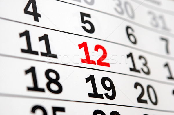 calendar showing end of time or deadline  Stock photo © inxti