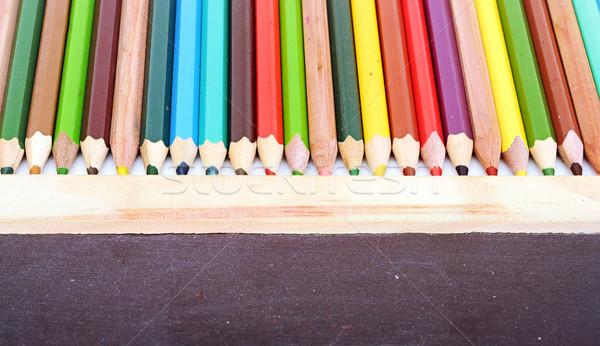 Stock fotó: Színes · ceruzák · tábla · fa · festék · űr