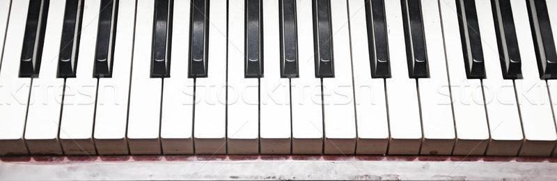 фортепиано ключевые черно белые клавиатура искусства Сток-фото © inxti