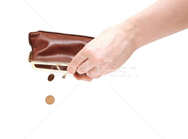 Stock fotó: Kéz · tart · üres · pénztárca · izolált · fehér
