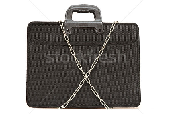 secret business briefcase locked with strong chain Stock photo © inxti