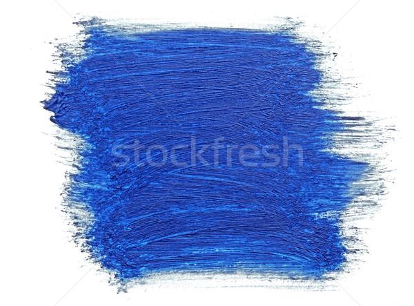 Mavi fırça boya yalıtılmış beyaz çocuk yağ Stok fotoğraf © inxti