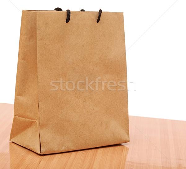 Stockfoto: Gerecycleerd · boodschappentas · weefsel · zak · klant · container