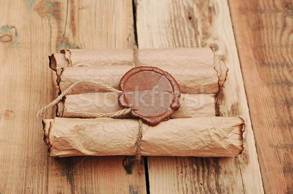 Ancient antique scrolls on the table  Stock photo © inxti