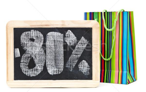 Oitenta por cento desconto escrito lousa colorido Foto stock © inxti