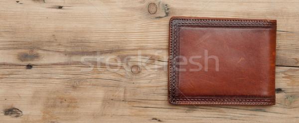 кошелька древесины фон торговых Финансы цвета Сток-фото © inxti