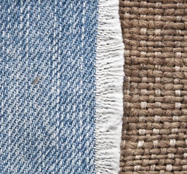 Denim jeans confine vintage tela ruvida moda Foto d'archivio © inxti
