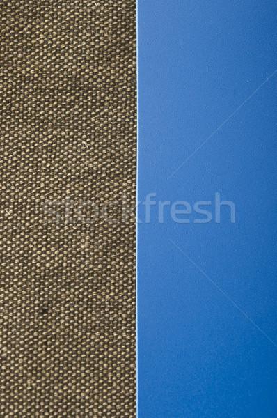 黄麻布 青 コピースペース テクスチャ 壁 デザイン ストックフォト © inxti