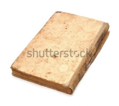 Régi könyv borító izolált fehér papír textúra Stock fotó © inxti