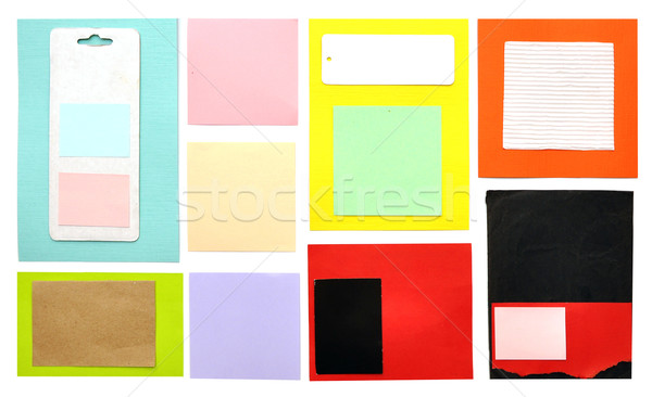 Lembrete notas brilhante cor papel fundo Foto stock © inxti