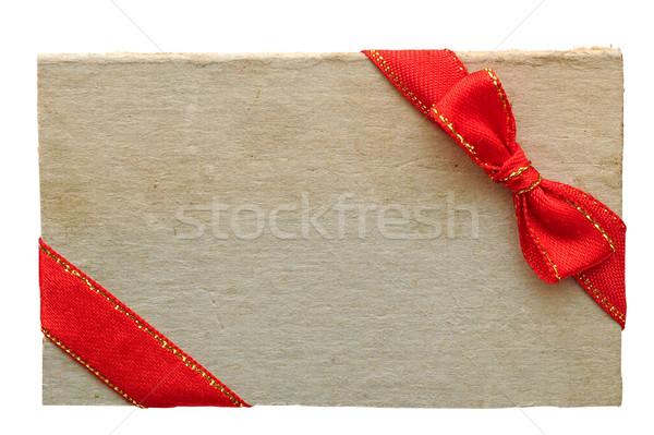 Oud papier verkoop tag label boeg Stockfoto © inxti