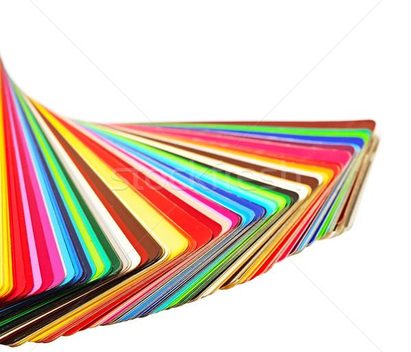 Kolorowy kolor przewodnik biały kopia przestrzeń farby Zdjęcia stock © inxti