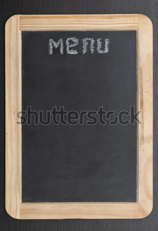 black chalk board withe clipping path Stock photo © inxti