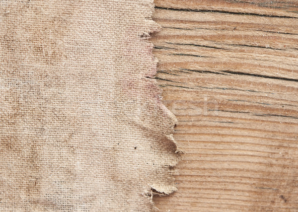Doku çuval bezi eski ahşap kâğıt ahşap Retro Stok fotoğraf © inxti