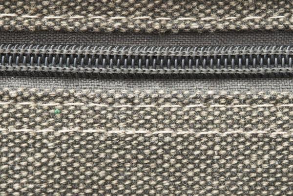 Burlap textile close up with zipper  Stock photo © inxti