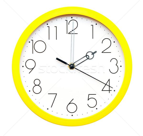 yellow wall clock Stock photo © inxti