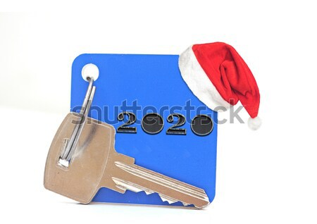key with a tag on a white background Stock photo © inxti