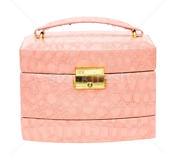 A beautiful pink leather cosmetic bag  Stock photo © inxti