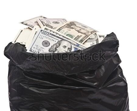 Plastic bag full of money  Stock photo © inxti