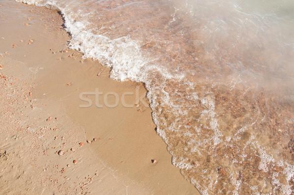 Piasku plaży fali wody tekstury morza Zdjęcia stock © inxti