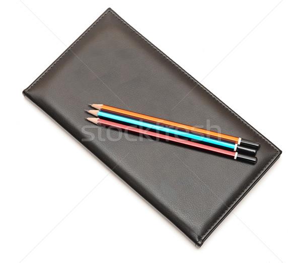 карандашей сведению книга служба пер фон Сток-фото © inxti