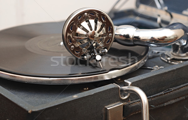 detail of a gramophone needle on a disc Stock photo © inxti