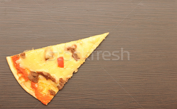 Pizza slice pizza achtergrond vlees witte levering Stockfoto © inxti