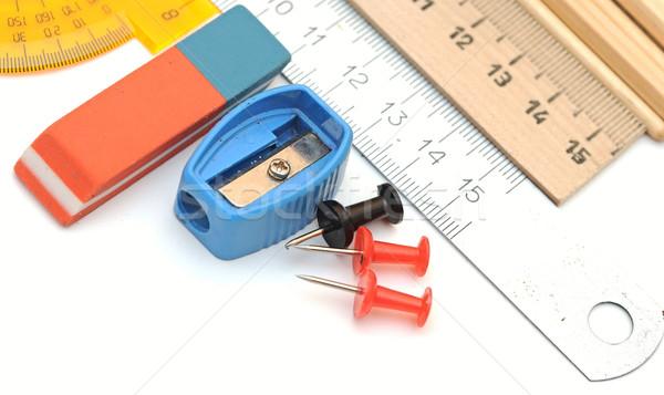 Office tools on white Stock photo © inxti