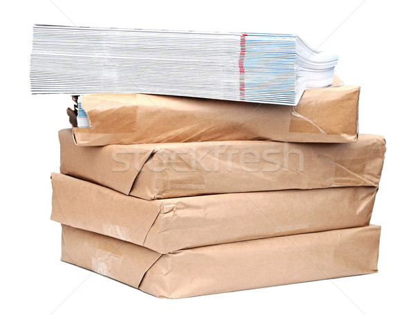 A large stack of magazines piled high.  Stock photo © inxti