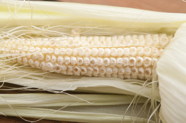 young corn on a wooden table Stock photo © inxti