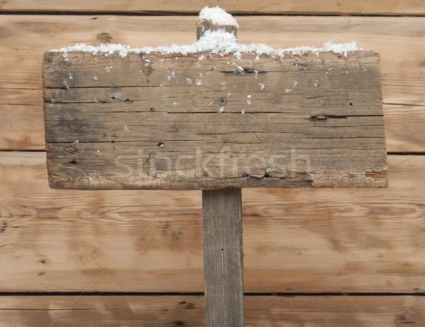 Stockfoto: Winter · exemplaar · ruimte · textuur · weg · hout