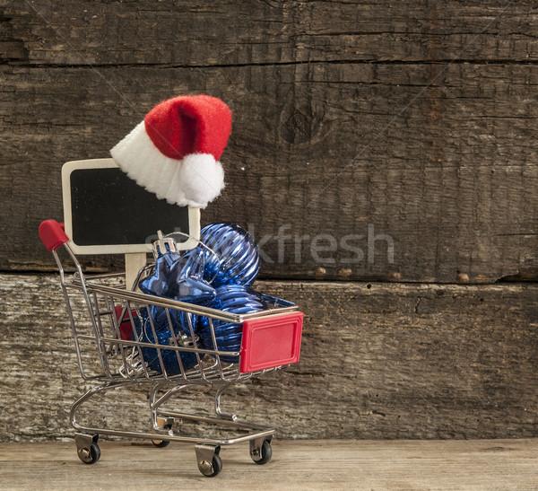 Рождества праздник Hat украшения украшение Сток-фото © inxti