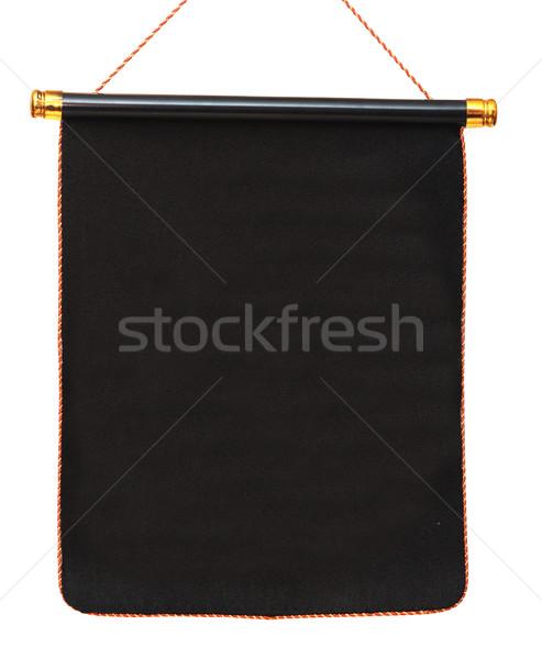 black pennant isolated on white background Stock photo © inxti