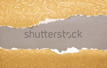 рваной бумаги бумаги отдельно слой Сток-фото © inxti