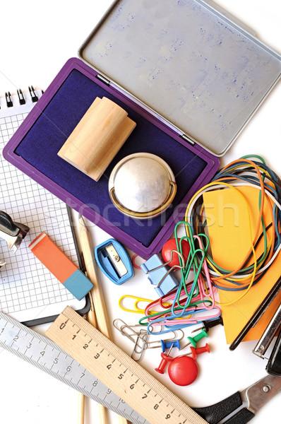 Foto stock: Muchos · oficina · herramientas · blanco · escuela · pluma