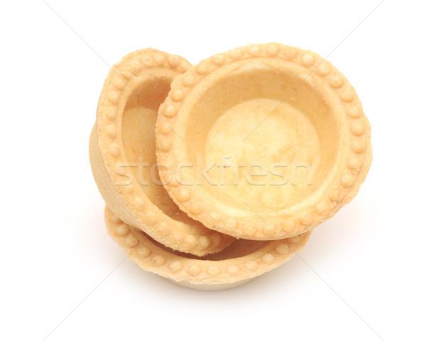 empty tartlet isolated on white Stock photo © inxti