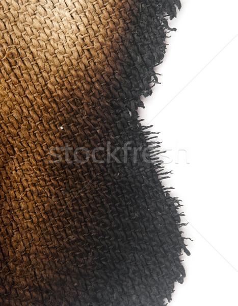 Isolé toile de jute blanche design tissu rétro Photo stock © inxti