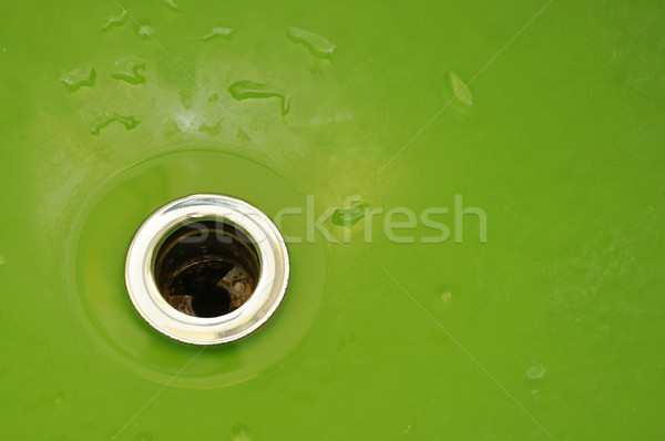Gotas água verde afundar cozinha Foto stock © inxti