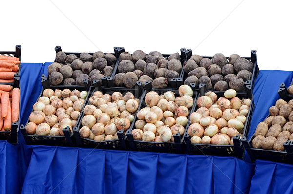 Ripe beets and onions in shop in a box Stock photo © inxti