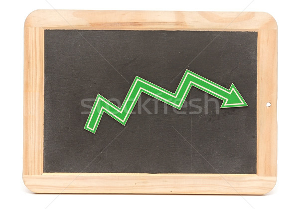 Bar graph of down Stock photo © inxti